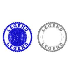 Grunge legend scratched stamps vector