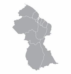 guyana regions map vector image