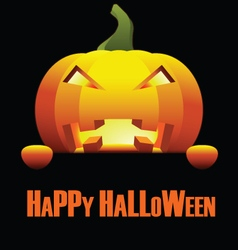 Happy Halloween with Isolated Angry Pumpkin vector