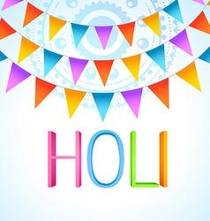 holi festival celebration vector image
