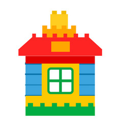 house constructor toy for children play vector image