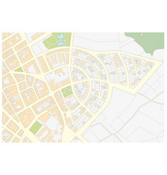Imaginary cadastral map of an area with buildings vector