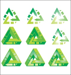 Impossible - Recycle - triangle vector