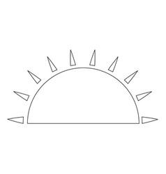isolated half sun vector image