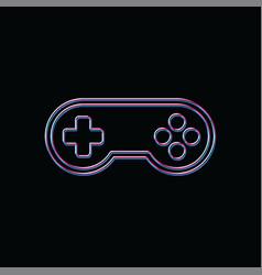 joystick game brand company template logo vector image