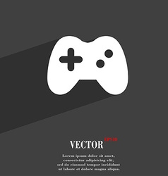 Joystick icon symbol Flat modern web design with vector image
