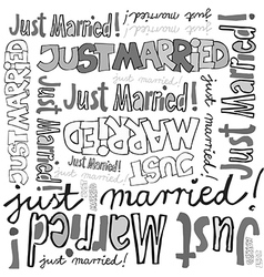 Just married seamless background vector