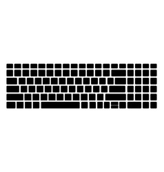 Keyboard black silhouette pattern template vector