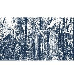 landscape winter forest texture vector image