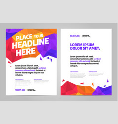 layout design template for event eps 10 vector image