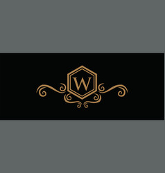 luxury logo template in for restaurant royalty vector image