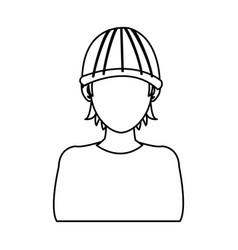 Man hacker guy portrait thief technology vector
