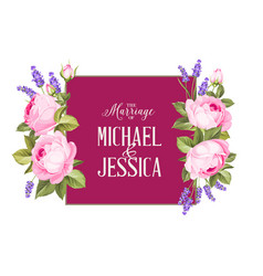 Marriage invitation card vector