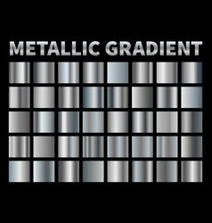 metallic gradients silver foil grey shiny metal vector image