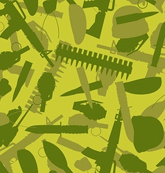 Military texture Silhouettes of arms and equipment vector