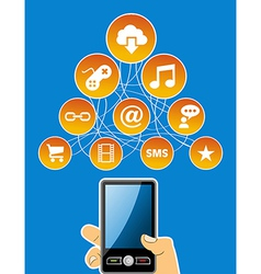 Mobility social media concept vector image