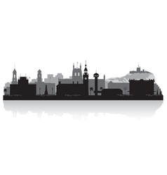 newcastle australia city skyline silhouette vector image