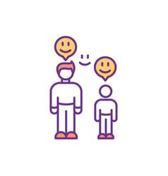 Parent-child bond rgb color icon vector
