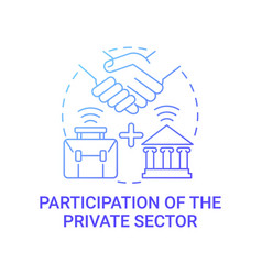 Participation private sector gradient blue vector