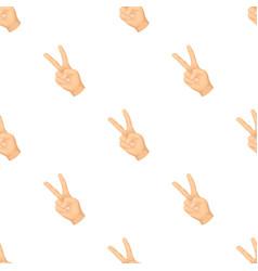 Peace symbol gesturehippy single icon in cartoon vector