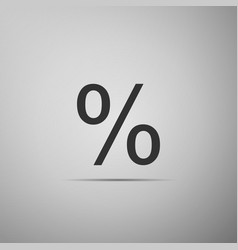 percent symbol discount icon on grey background vector image