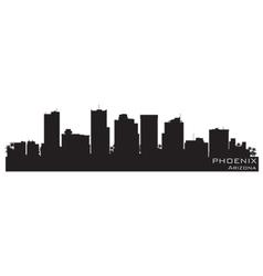 phoenix arizona skyline detailed silhouette vector image