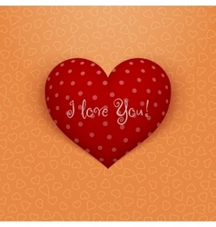 Realistic Valentines Day red Heart with Shadows vector image