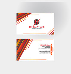 Red business card templates design vector