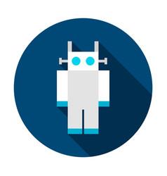 robot circle icon vector image