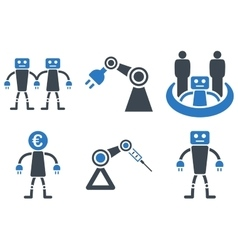 Robotics Flat Icons vector image