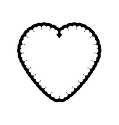 romantic heart decoration image outline vector image