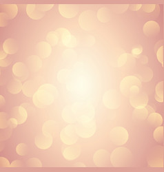rose gold bokeh lights background vector image