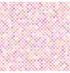 seamless pink heart pattern background vector image
