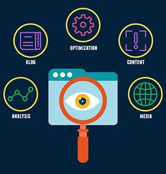 Search engine optimization is the process of vector image