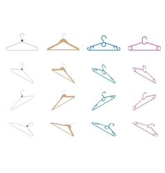 set hangers flat vector image
