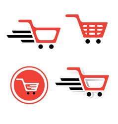 Shopping basket sign set vector