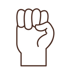 Sign language hand gesture indicating e letter vector