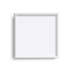 Square blank picture frame empty picture frame vector