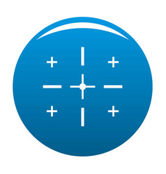 Targeting icon blue vector