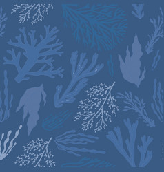 Trendy summer seaweed design vector