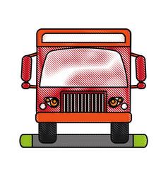 truck flat scribble vector image