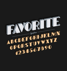 vanguard decorative bold font design alphabet vector image