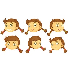 Variations of a girls faces vector image
