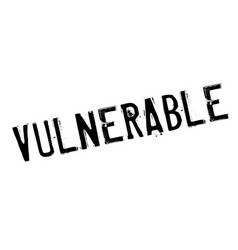 vulnerable rubber stamp vector image
