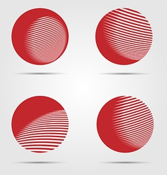 Abstract business icon collection vector image vector image