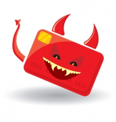 devil card vector image