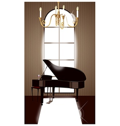 Grand Piano Room vector image vector image