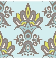 Luxury Damask flower seamless pattern background vector image vector image