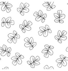 Seamless pattern made from graphic rose leaves vector image vector image