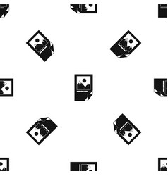 tested ink paper with printer marks pattern vector image vector image